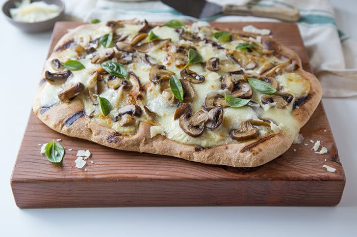 3 Mushroom and Garlic Pizza