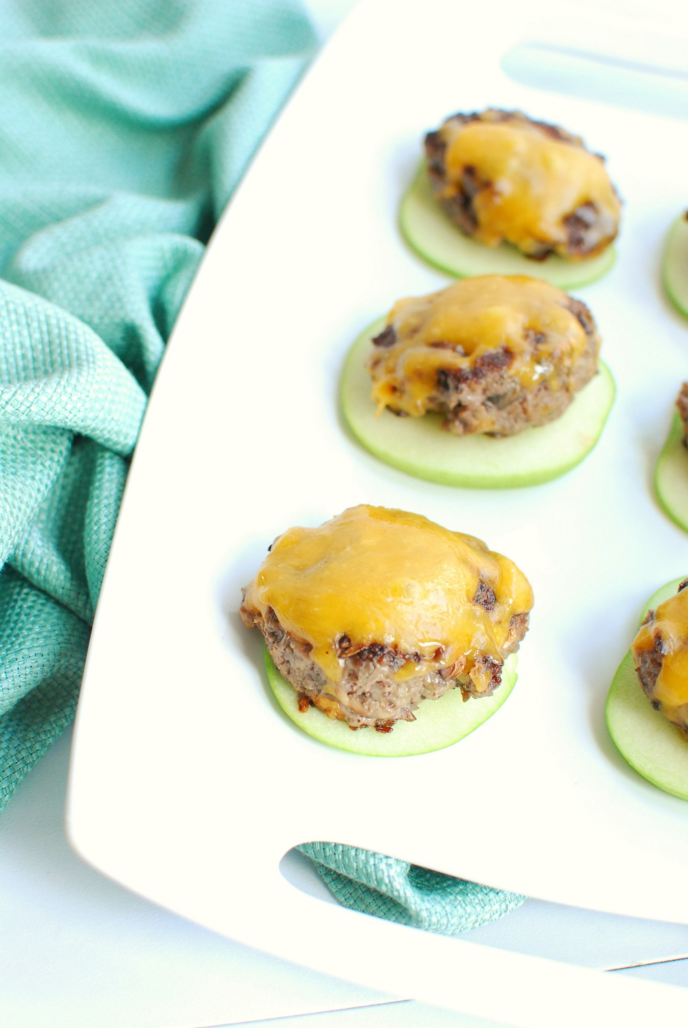 blended beef and mushroom sliders with apple buns