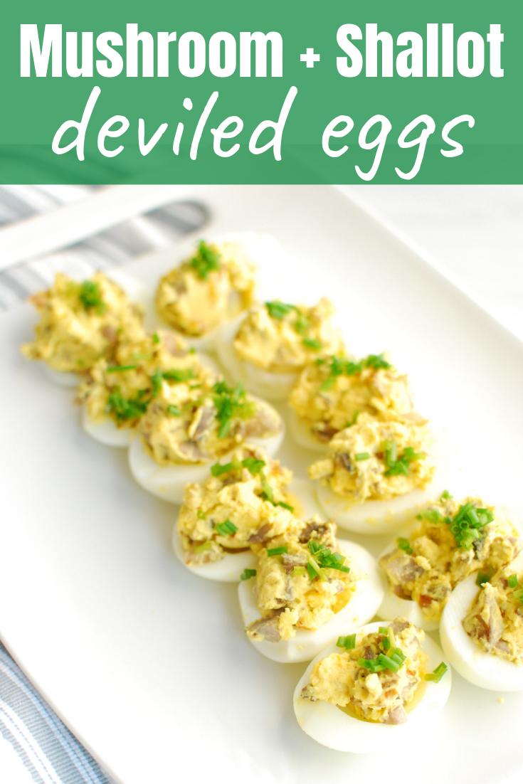 Mushroom Deviled Eggs Keto