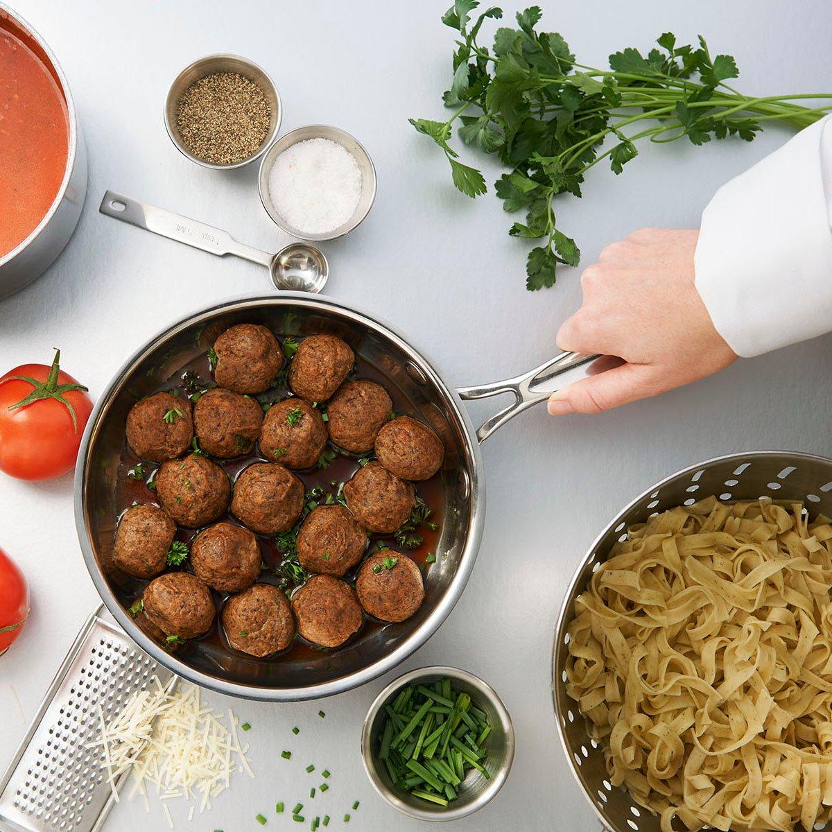 Mushroom blended meatballs