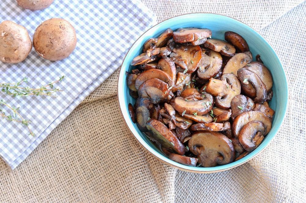 Maple Balsamic Sauteed Mushrooms