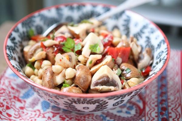 Marinated-Mushroom-Chickpea-Salad
