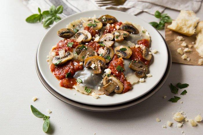 Mushroom Marinara Ravioli