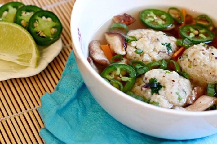 Mushroom-Matzo-Ball-Soup