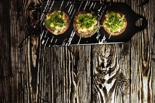 Portabella stuffed mushrooms