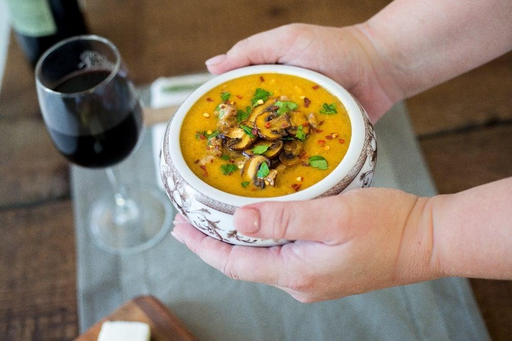 butternut mushroom soup