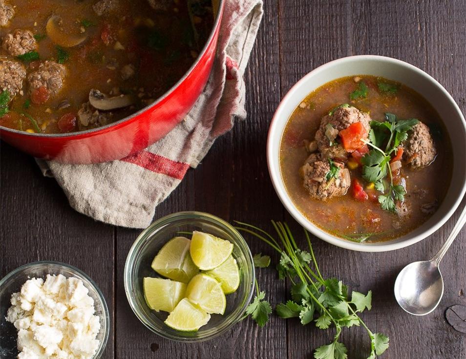 mushroom-meatball-soup